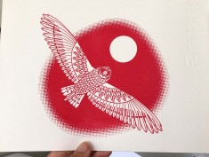 red gocco owl1