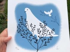 white dove blue
