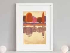 giclee skimmer in frame