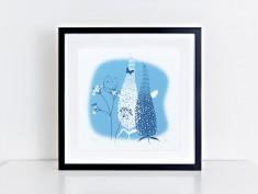 blue buddliea frame