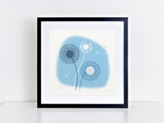 blue dandelion frame