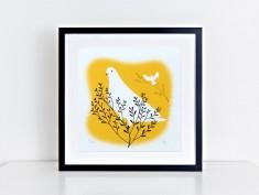 yellow dove frame